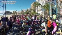 Course cycliste arretée en cours à cause de vents de face puissant en espagne