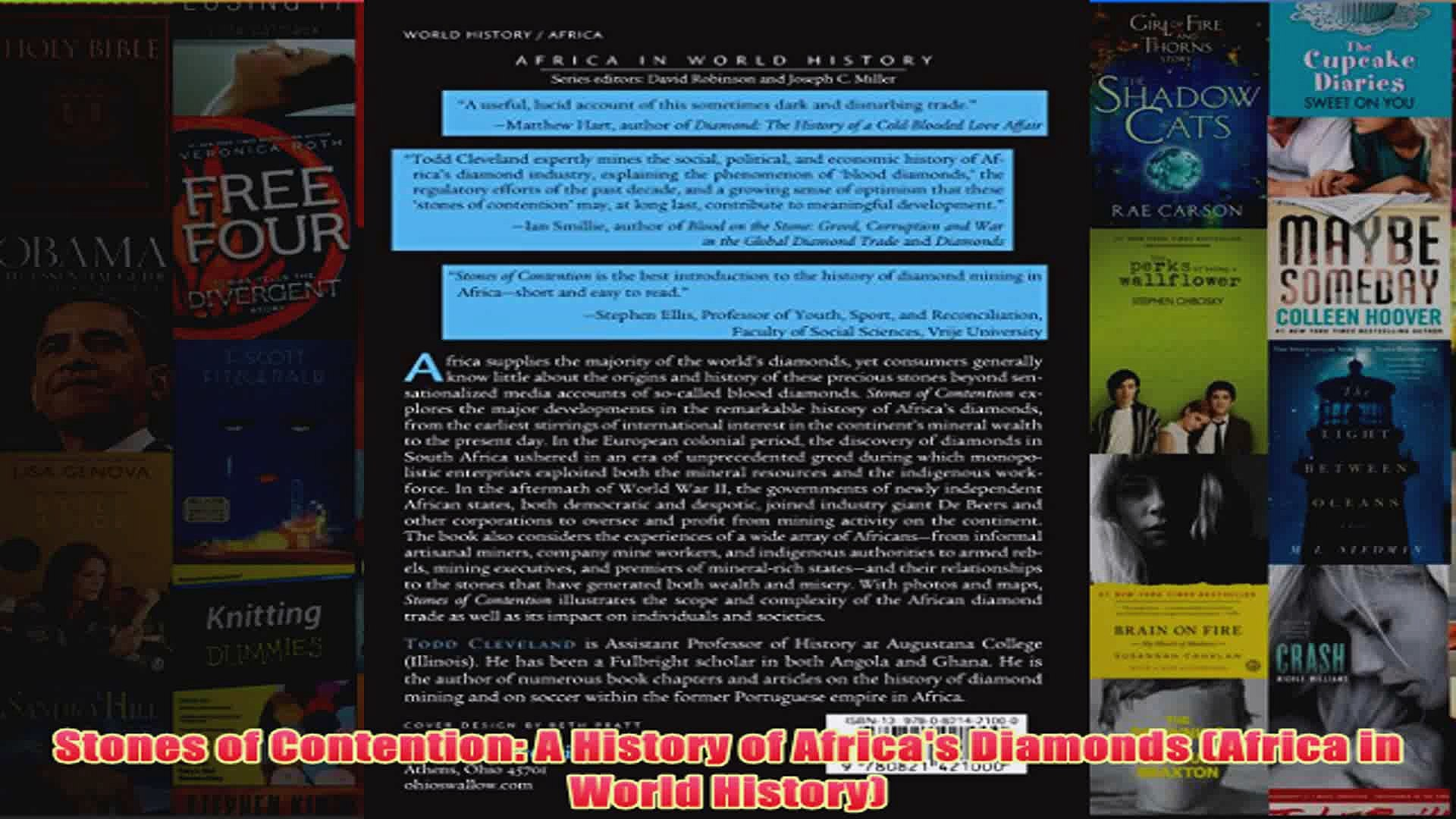 Download PDF  Stones of Contention A History of Africas Diamonds Africa in World History FULL FREE