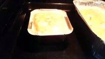 Forme de pâtes Tagliatelles au poulet et œufs.
