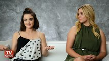 Pretty Little Liars Lucy Hale Interview - Ezria Reunion