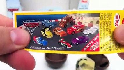Cars 2 Surprise Eggs Unboxing Disney Pixar toy gift - Kinder sorpresa huevo juguete regalo Cars
