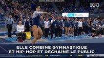 Elle combine gymnastique et hip-hop et déchaîne le public