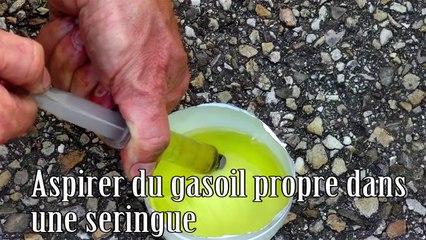 Autre méthode pour amorcer une pompe à gasoil sans poire d'amorçage