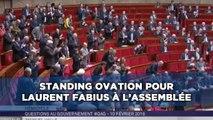 Standing ovation pour Laurent Fabius à l'Assemblée Nationale