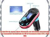 VicTsing Transmisor FM Bluetooth con manos libres coche kit Car Kit- Soporte cargador de USB