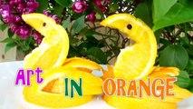How to Make Orange Bird _ Orange Duck _ Orange Swan _ Fruit Art Carving Garnish _ Food Decoration