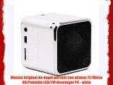 Música Original de ángel portátil con altavoz TF/Mirco SD/Pantalla LCD/FM descargar PC - plata