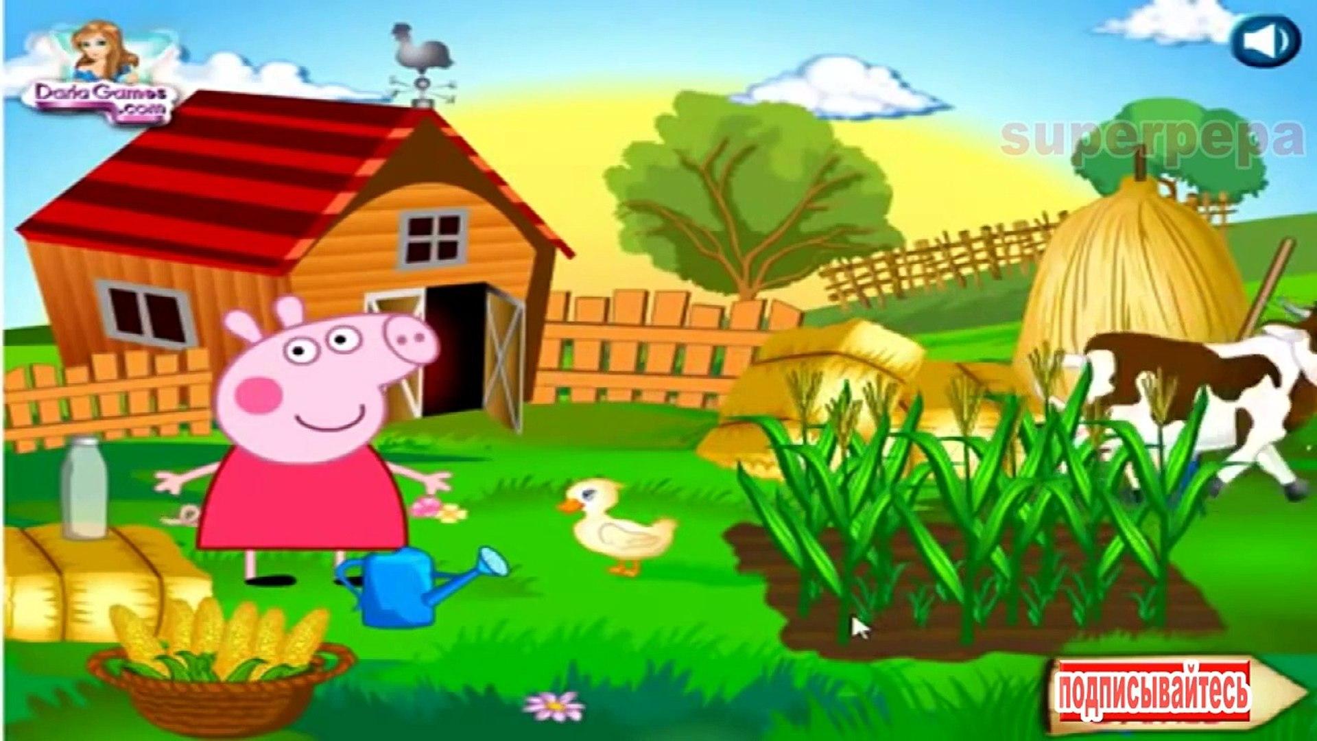 Свинка Пеппа Корова и утка Свинка Пеппа смотрите свинку Пеппу