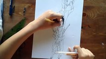 Drawing 3D Luffy and Zoro from One piece