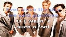 Backstreet Boys - Back to your heart - karaoke lyrics