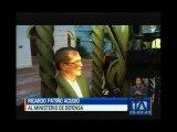 Ricardo Patiño es el octavo Ministro de Defensa en el gobierno de Correa
