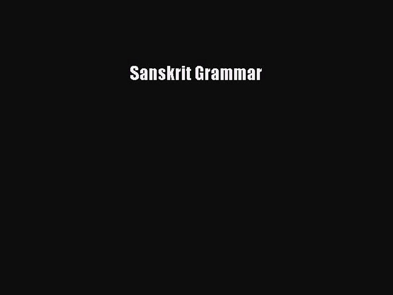[PDF] Sanskrit Grammar Download Full Ebook