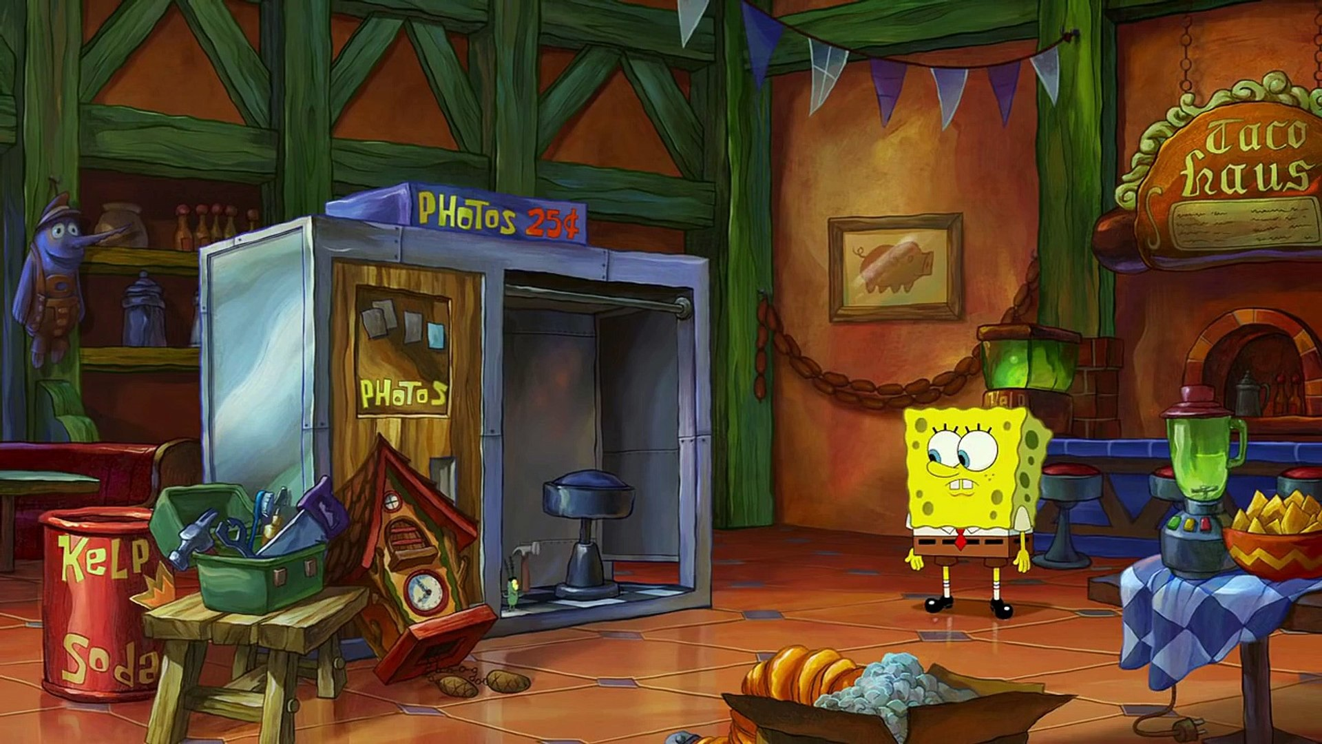 The Spongebob Movie Sponge Out Of Water Time Travel Video