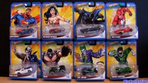 8 DC Universe Hot Wheels Cars Batmobile Superman Bane Joker Flash Wonder Woman DC Comics