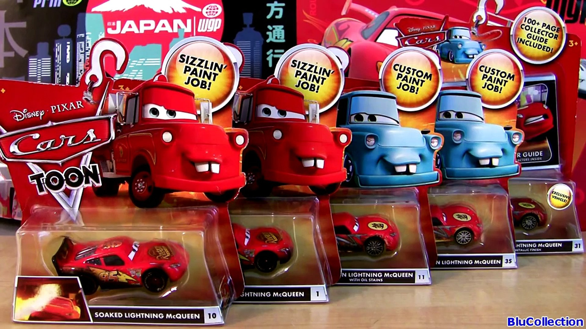 5 Mcqueen Cars Toon Dragon Lightning Mcqueen Oil Stains Metallic