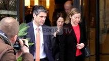 Report TV - Mogherini përfundon vizitën zyrtare në Shqipëri