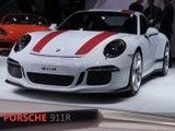Porsche 911R en direct du salon de Genève 2016