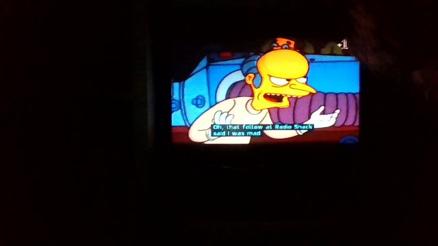 The Simpsons: Mr Burns made a Robot to life from Homers Brain.