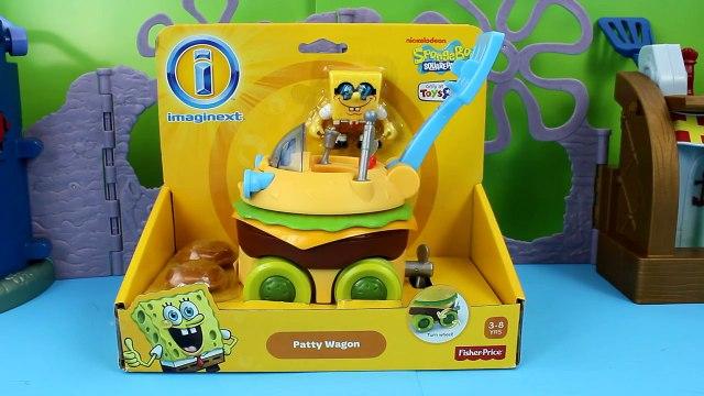 Imaginext Spongebob Squarepants Patty Wagon with Patrick and Plankton Just4fun290