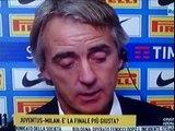 Inter Juventus 3 0 - Mancini deluso dopo i calci di rigore - Inter Juventus 6 5