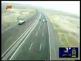 4 cars racing on irans highway ends in crash