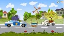 ✔ Dessins animé voiture. Voiture de police pour enfants. Tiki Taki  Dessins Animés ✔  Dessins Animés Pour Enfants