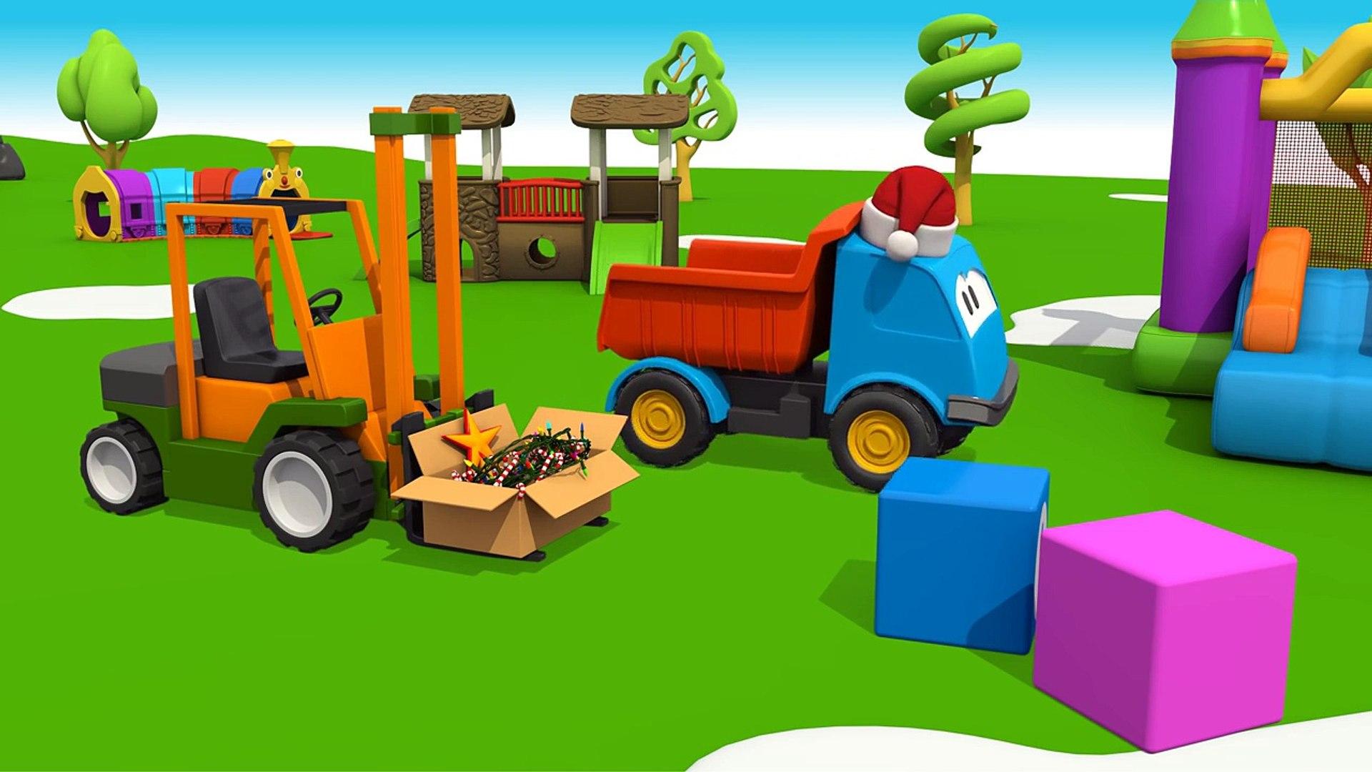 Мультик про машинки: Новогодняя песенка грузовичка Левы: Новогодние мультфильмы для детей