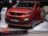 Citroën Space Tourer, Peugeot Traveller et Toyota ProAce Verso en direct du salon de Genève 2016