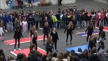Flashmob college Marie Curie Tournon sur Rhône pour concours UNSS
