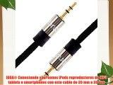 IBRA® Cable de audio estéreo | Conector macho de 35 mm a conector macho de 35 mm | Pistola