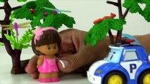 Toy Car Rescue Stories DOCTORS & NURSES! Doctor Robocar Poli & Nurse Amber