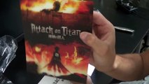 Attack on Titan Collectors Edition BluRay/DVD Combo Unboxing