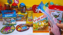 Candy and Toy Angry Birds, Disney Princess Fruittella Candy, Planes Disney, The Smurfs