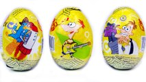 Phineas & Ferb surprise eggs toys Peppa Pig Kids Toys Play-Doh And Funny Surprise Eggs ToyS Little Pony Toy Video Disney Pixar Cars Lightning Fast Speedway Track Set With Lightning McQueen Racers Disney Pixar Cars Track Set  Abc Alphabet &4