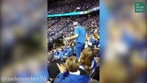 Aïe, cette jeune fille va regretter sa danse avec ce papy fan de basket