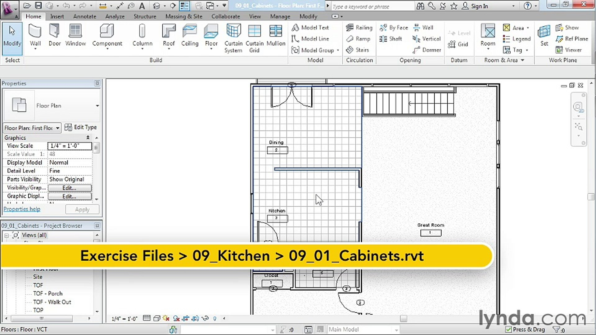 09 01 Placing Cabinets And Kitchen Appliances House In Revit