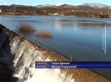 Nivo Borskog jezera iznad prelivne brane, 11  februar 2016  (RTV Bor)