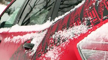 Un trio de Nissan Rogue Warrior à chenilles sur la neige