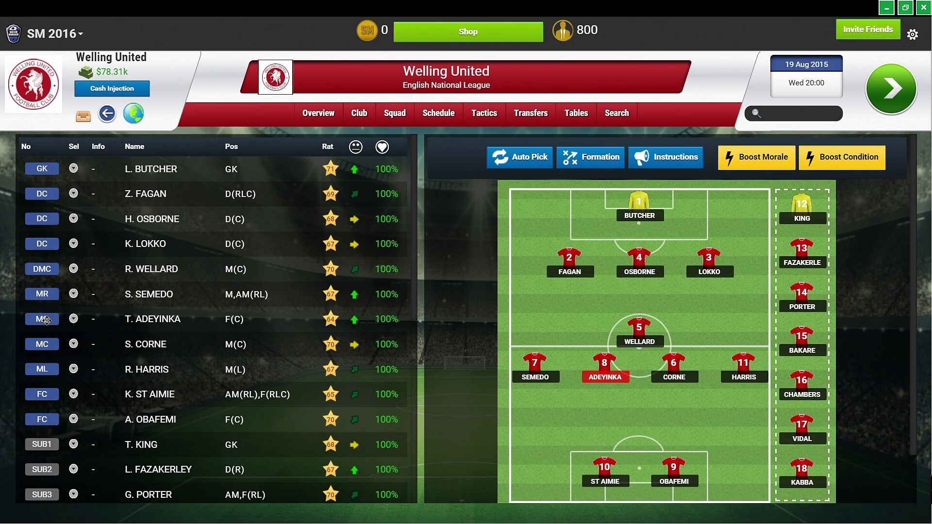 Soccer Manager – RAW Gaming 3