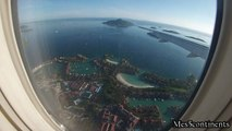 Landing Mahe Airport   Atterrissage aéroport de Mahé Seychelles