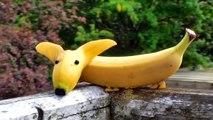 How to Make Banana Decoration _ Banana Art _ Fruit Carving Banana Garnishes