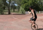 Whipping Boy Adds Extra Dimension to His Tricking