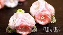 Цветы из Лент на резинках - Канзаши Мастер- Класс - KANZASHI
