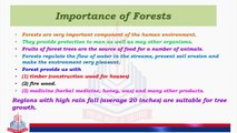 Importance of Forests, Environmental Buffer ,Forests and Biodiversity , Forests & Climates