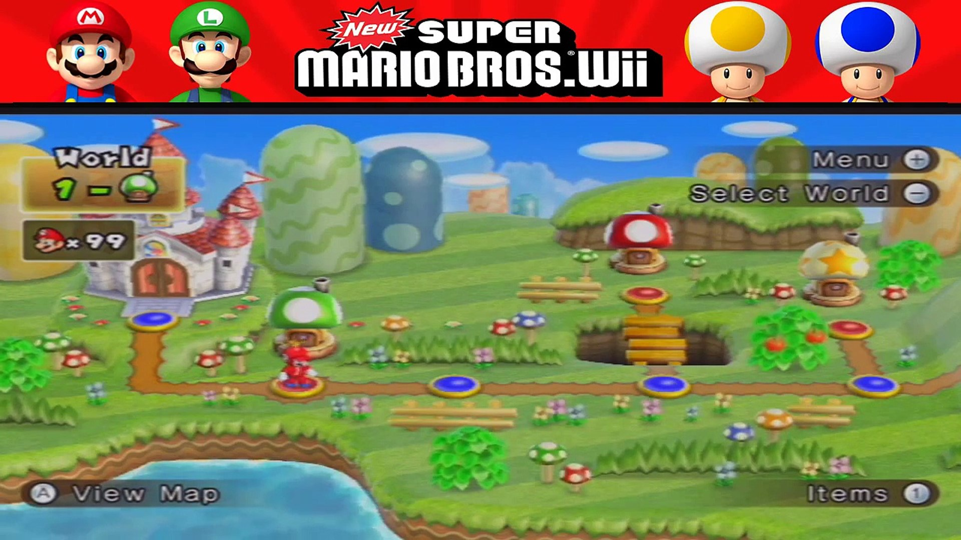 New Super Mario Bros Wii World 8 2 Secret Exit 8 7 Video