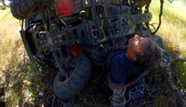 Guy On Dirtbike Rescues Man Pinned Under 4 Wheeler