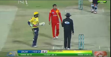 watch Easy win for Peshawar Zalmi - Tamim Iqbal played a brilliant knock of 80 - Winning Moments