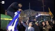 Agricultores protestaron en Atenas contra la reforma de pensiones