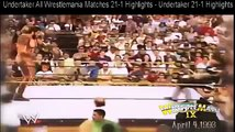 undertaker all wrestlemania matches 21-1 highlights - undertaker 21-1 highlights