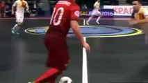 Ricardinho Fantastic skill and GOAL / Portugal vs Spain / Futsal 8-2-2016 (FULL HD)